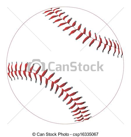 Drawn baseball baseball stitch Vector A red with EPS