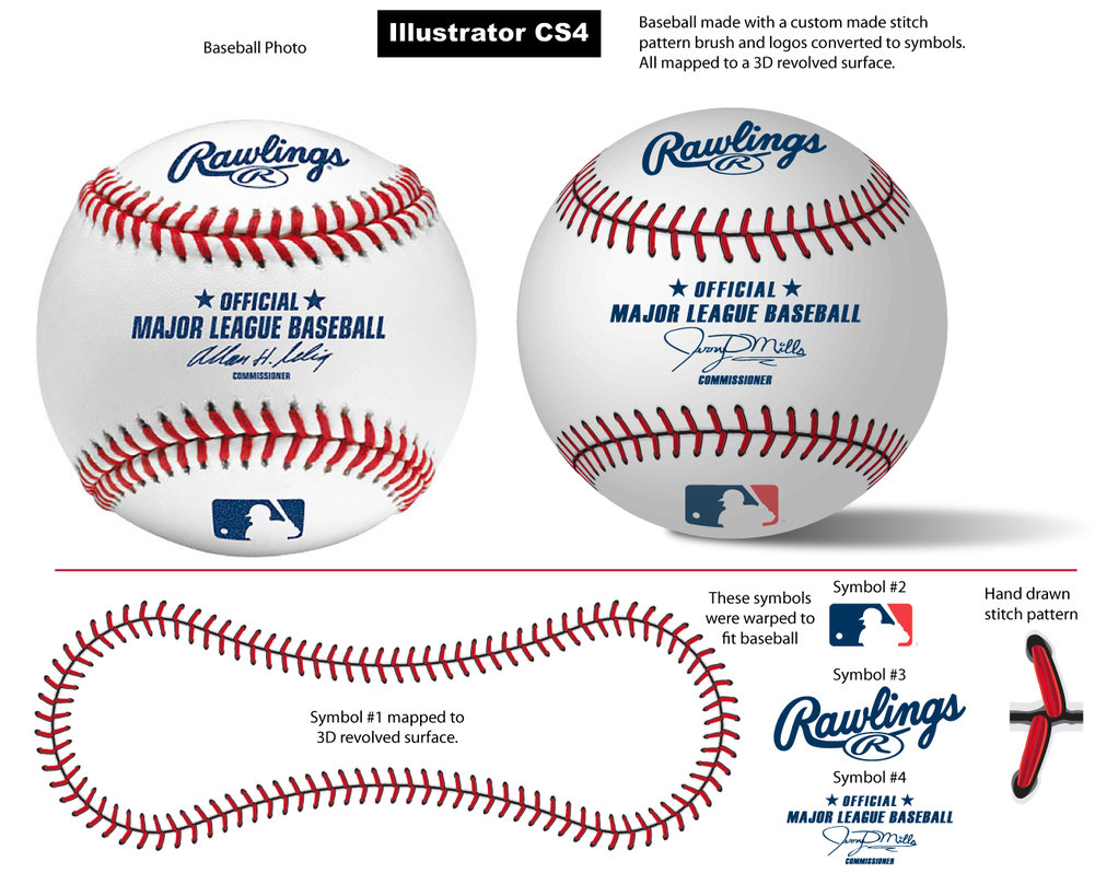 Drawn baseball baseball stitch Vectorgeek by Brush Pattern Baseball