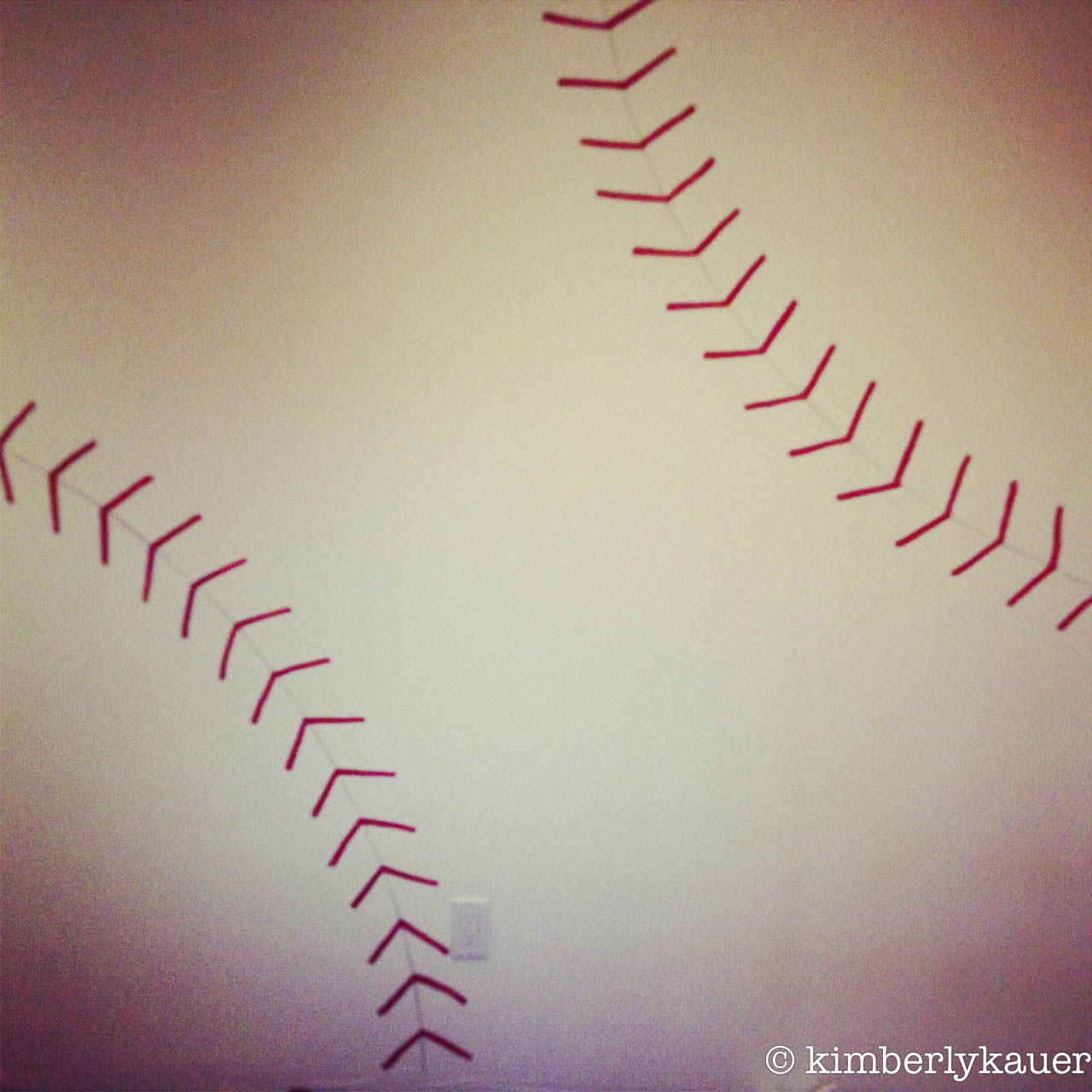 Drawn baseball baseball stitch Tippytoes Tantrums: Stencil and Seams
