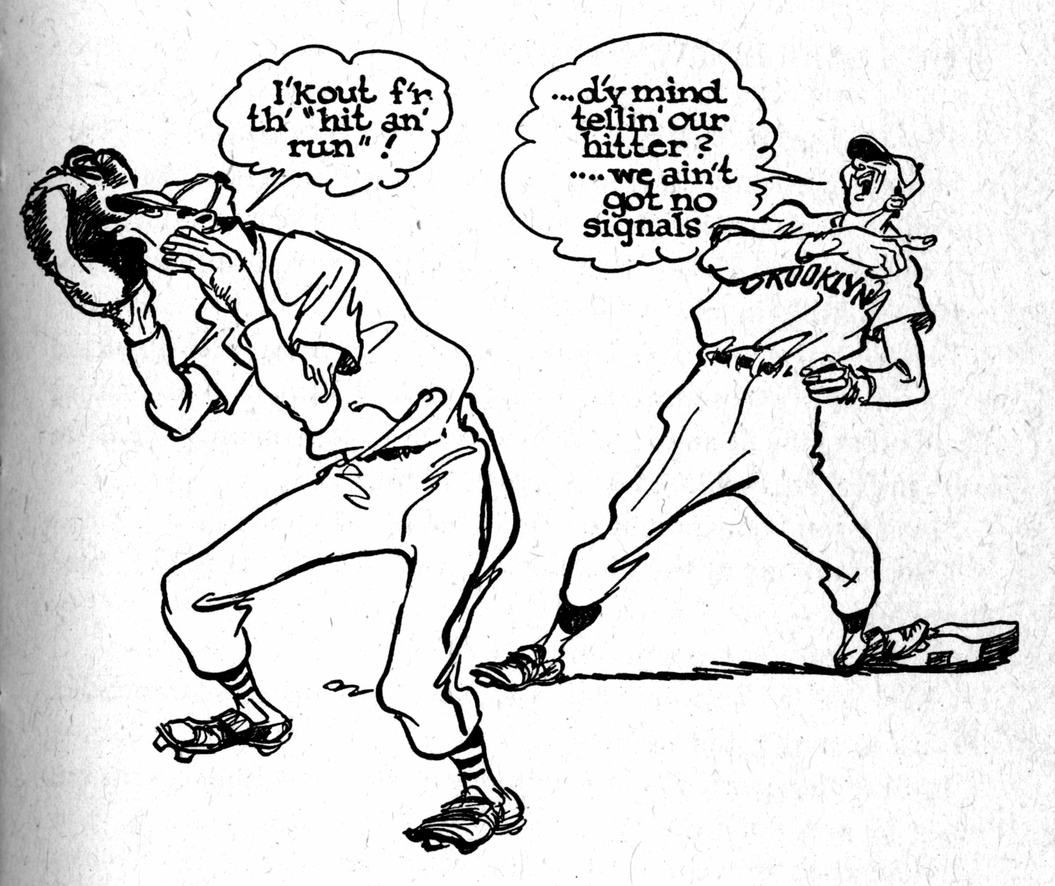 Drawn baseball cartoon By first Willard Mullin Baseball