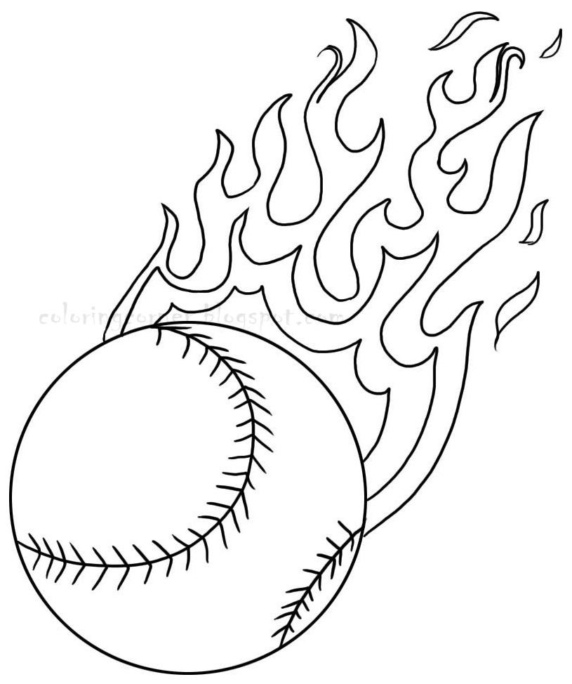 Drawn baseball coloring page  Pages Craft baseball Coloring