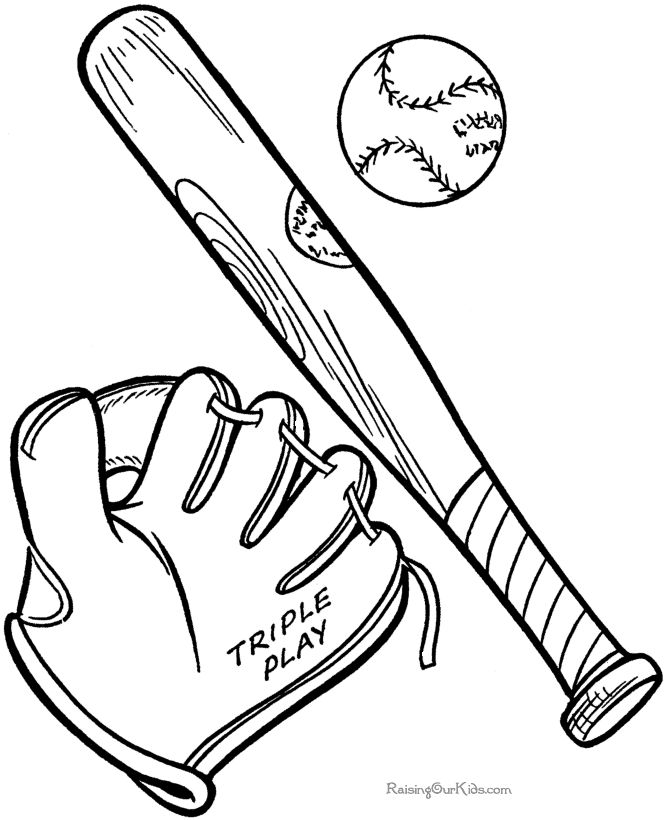 Drawn baseball coloring page Find pages Best Bat sports