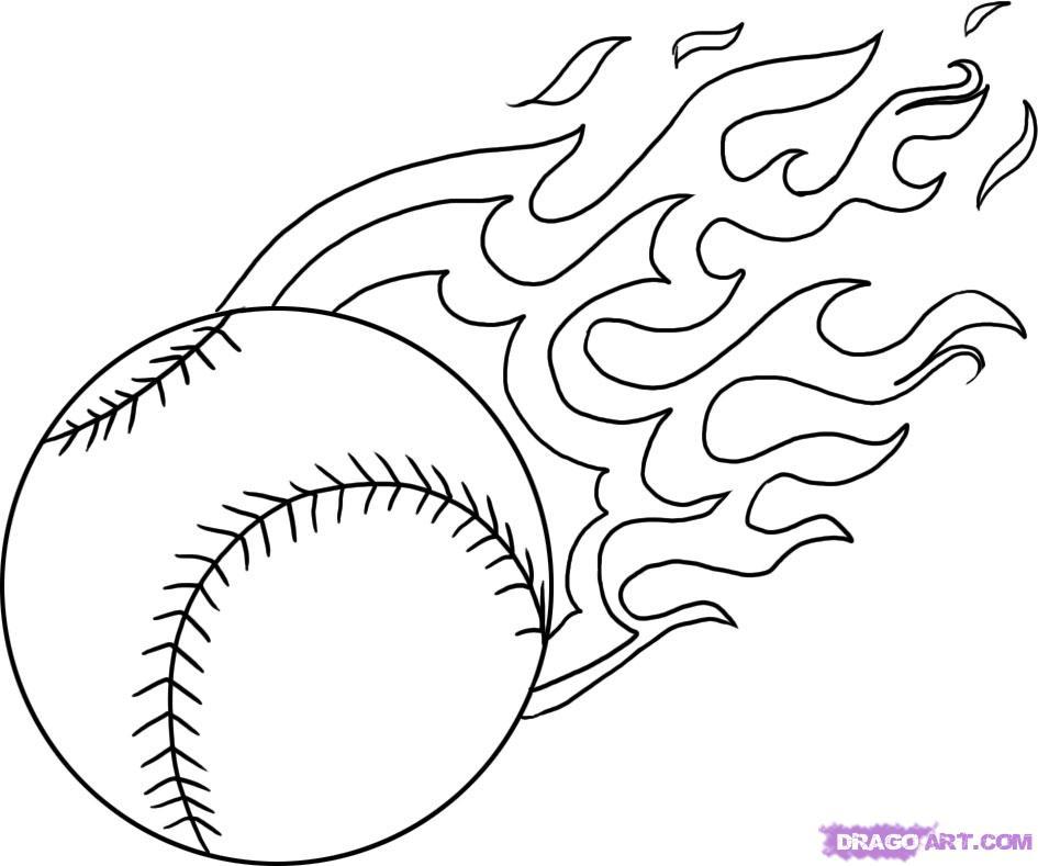 Drawn baseball coloring page Get Sheets Roundup sheets Coloring