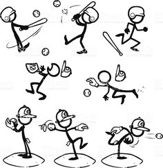 Drawn baseball softball Clipart art stock Softball Stick