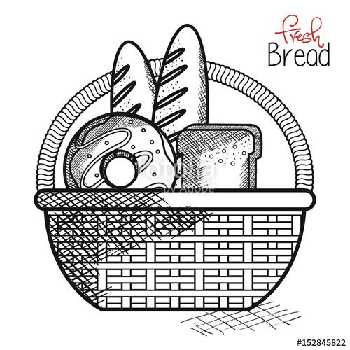 Drawn basket Goods drawn Vector background background