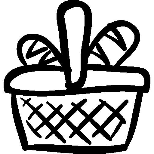 Drawn basket Icon icons drawn Free hand