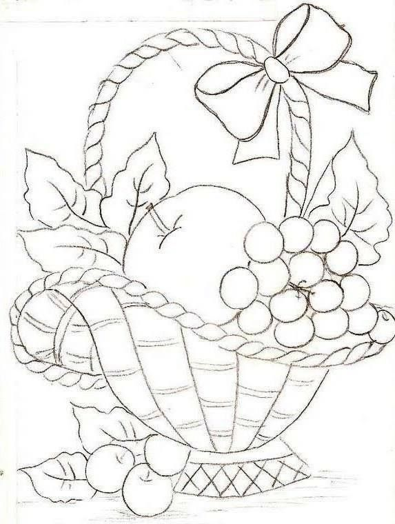 Drawn basket colouring #15