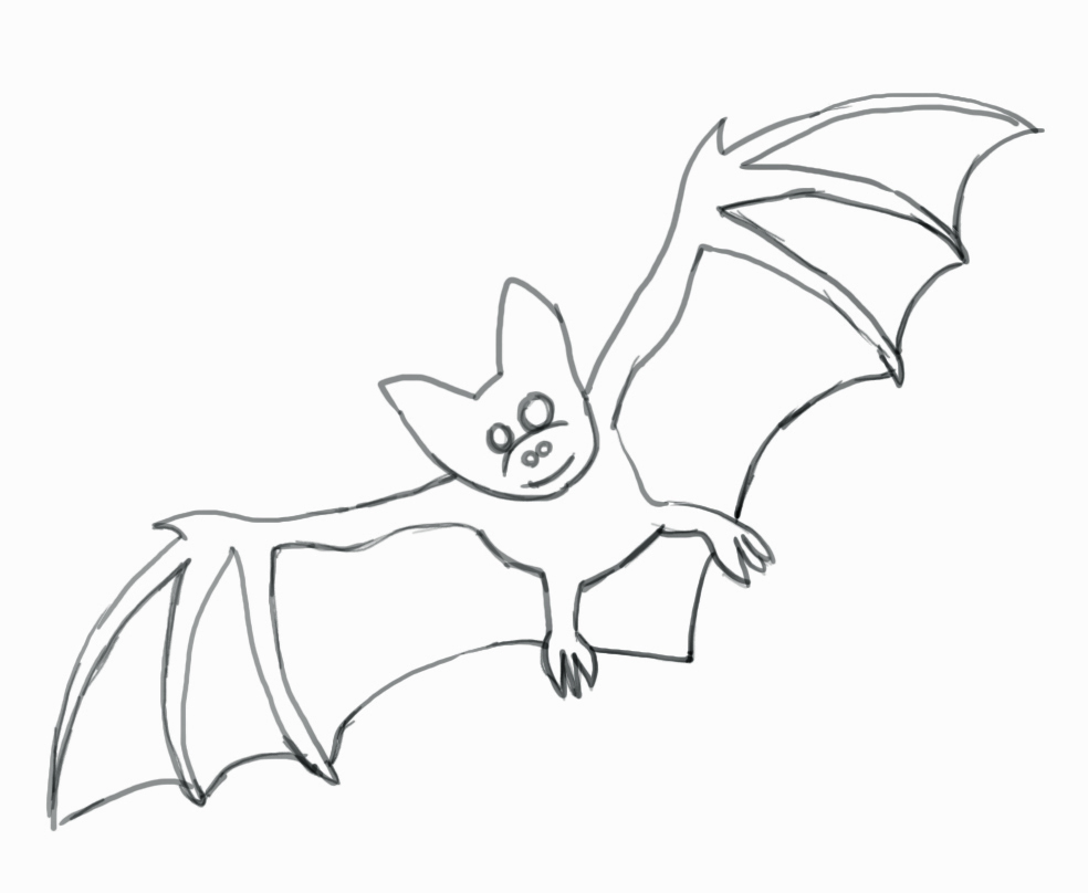 Drawn vampire mouth To a Bat by Step