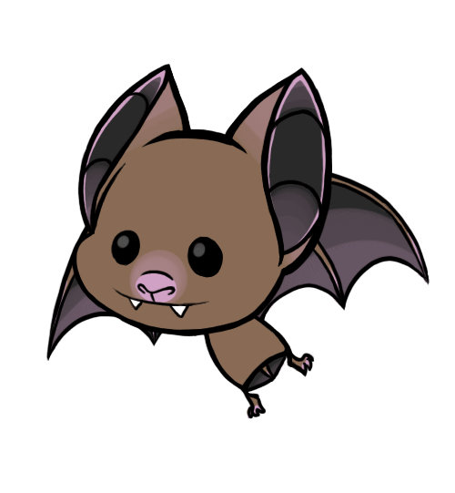 Bat clipart animated Little Cartoon draw Cute
