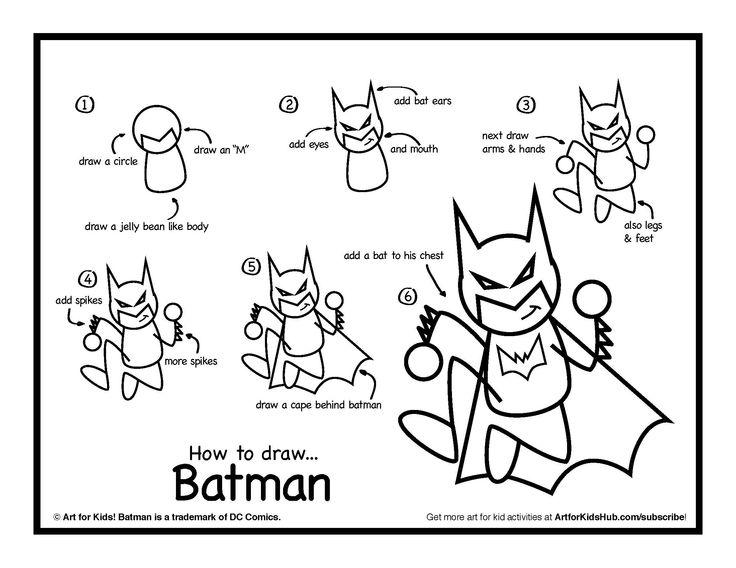 Drawn rabbid toddler Draw Pinterest To batman Kids