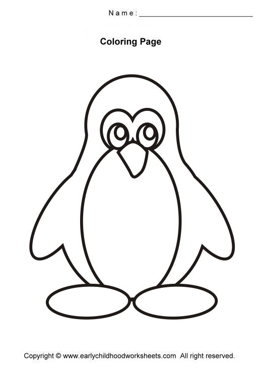 Color clipart penguin And pages kids coloring to