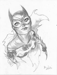 Drawn batgirl Ben Online  sketch Pinterest