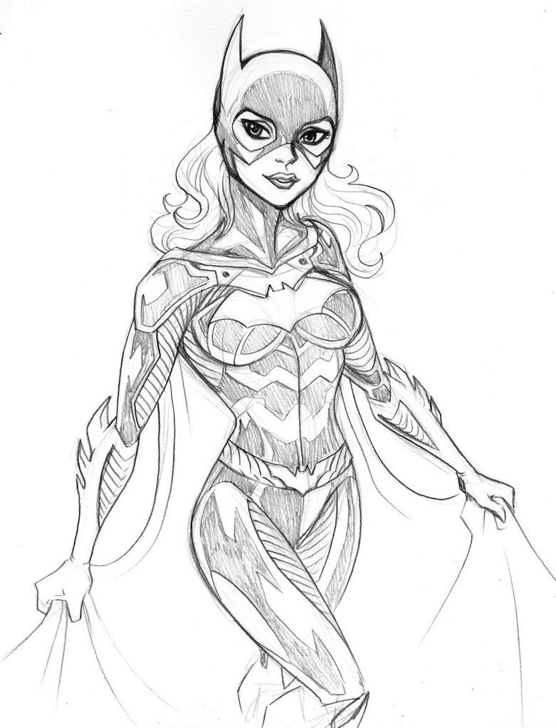 Drawn batgirl By DeviantArt friend  LucianoVecchio
