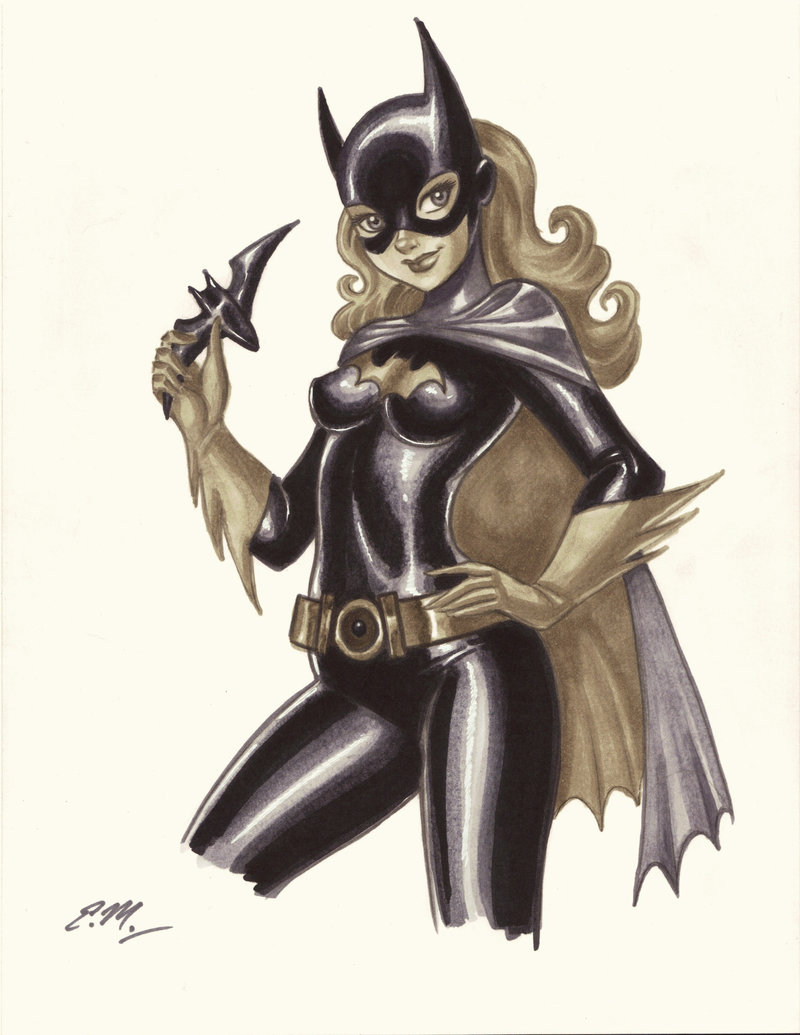 Drawn batgirl Drawing deviantart Marker scribbles by