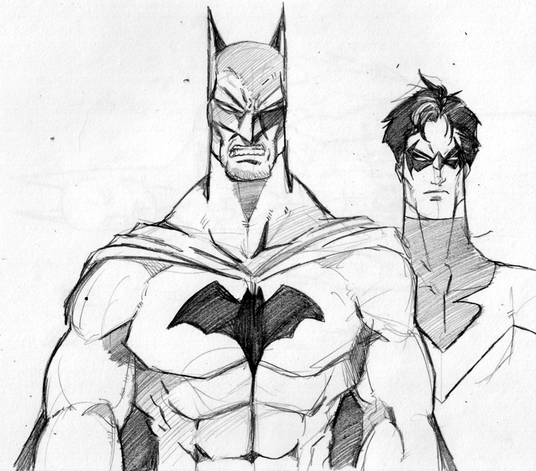 Drawn batman basic Nightwing And by on by