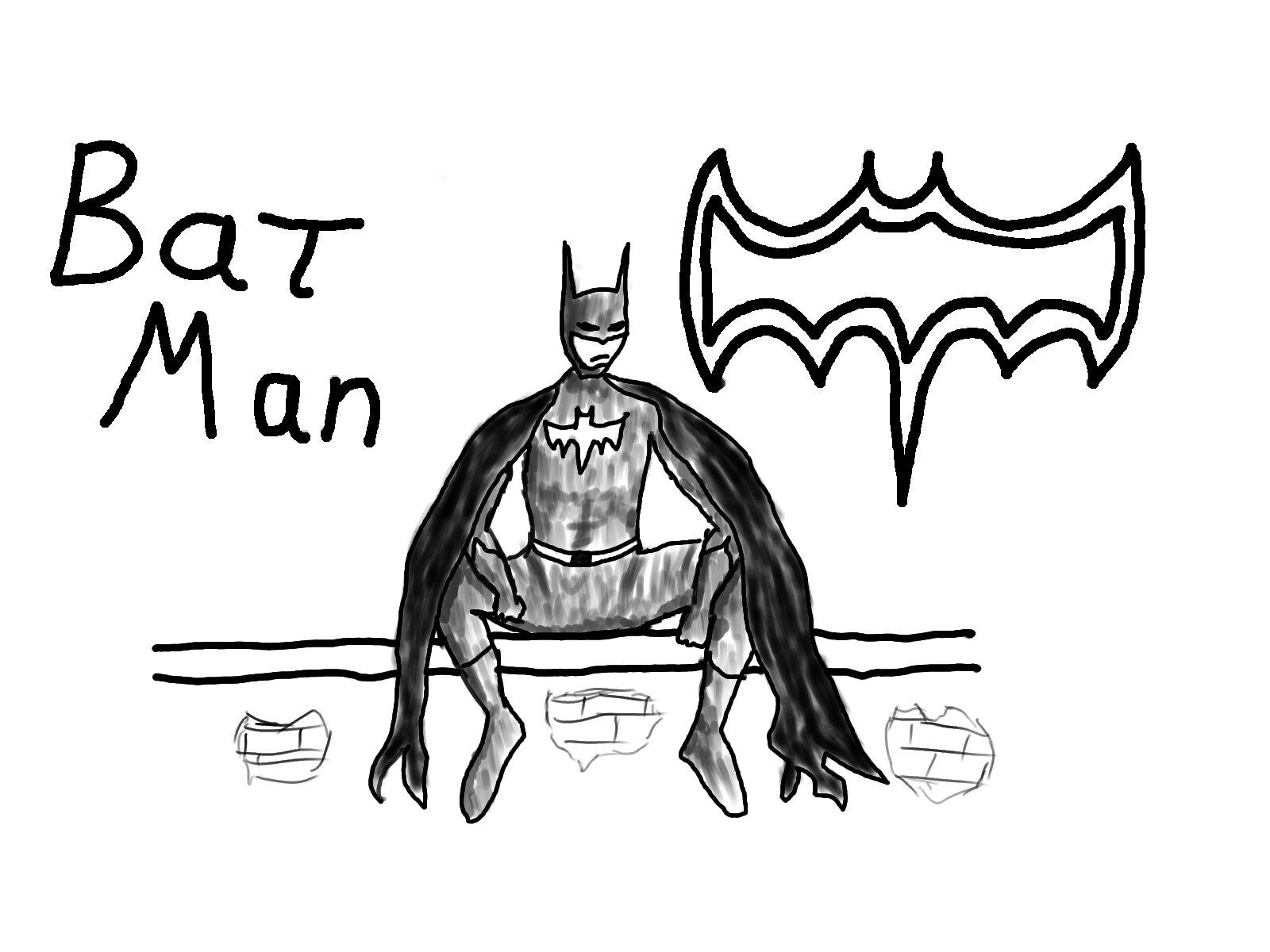 Drawn batman basic 100% Drawn no more than