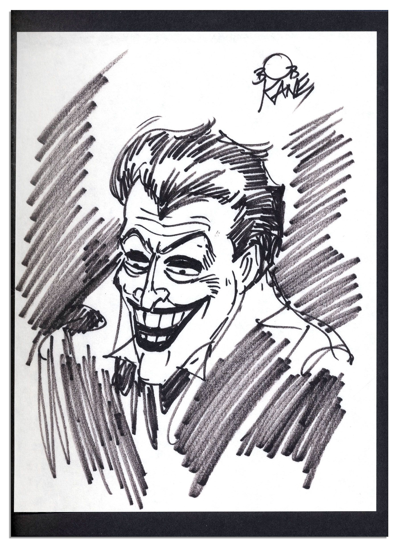 Drawn batman bob kane With Kane Signed ''Batman Signed