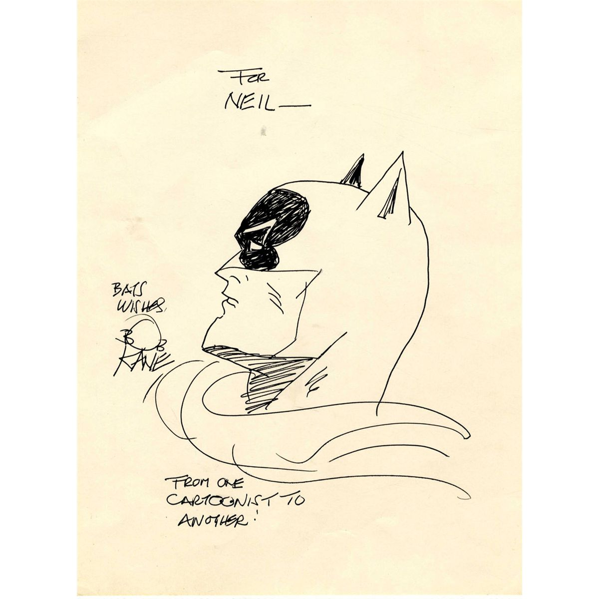 Drawn batman bob kane Kane Batman Bob  Drawing