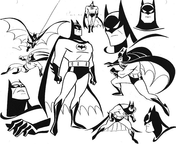 Drawn batman cartoon Animated Series design art the
