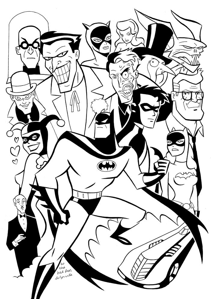 Drawn batman cartoon Series Loves Art Batman Comic