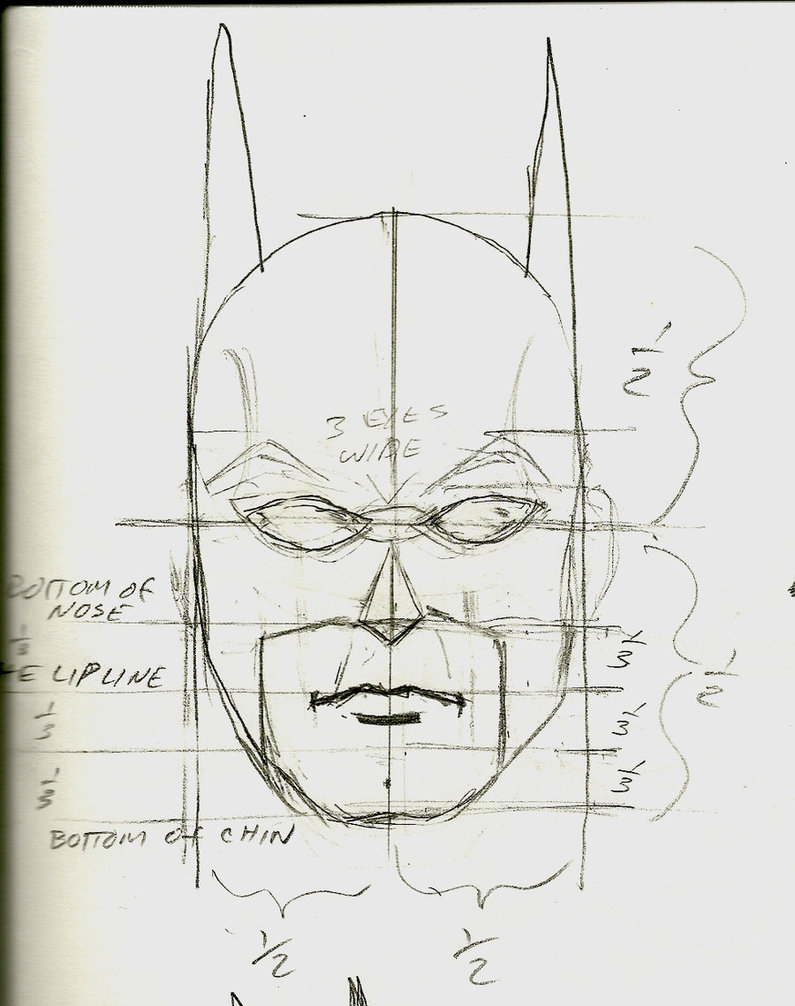 Drawn batman cowl By on by construct TroytheDinosaur
