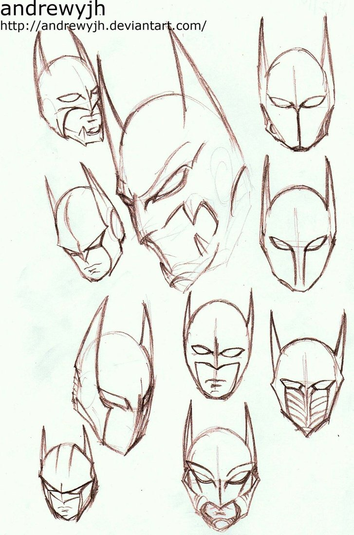 Drawn batman cowl On andrewyjh by DeviantArt andrewyjh