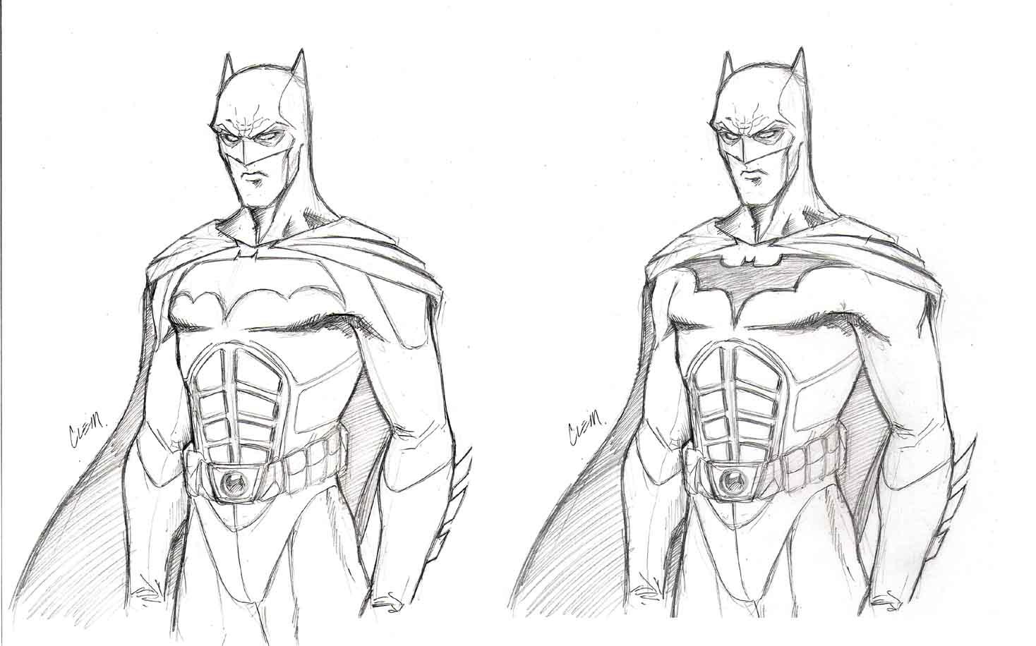 Drawn batman cowl Suit: 17 suit is first