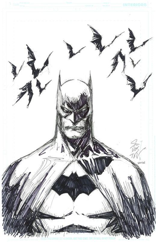 Drawn batman marvel By Best Marc dibujo Batman