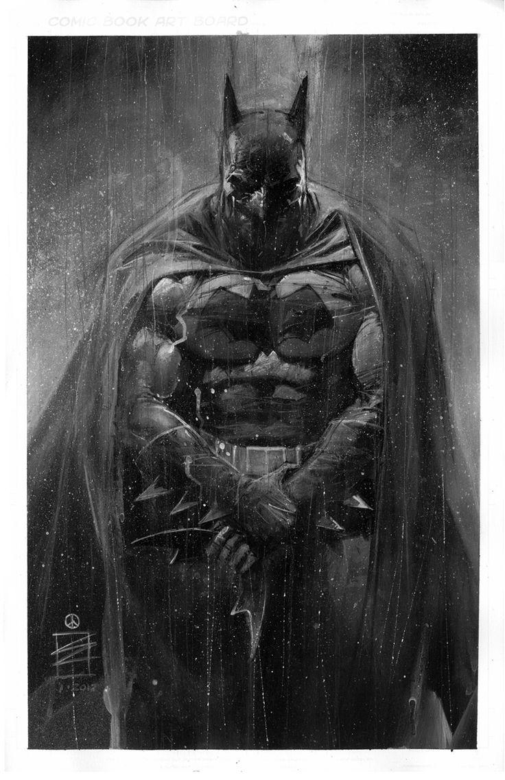 Drawn batman marvel Eddie Super Newell on Batman