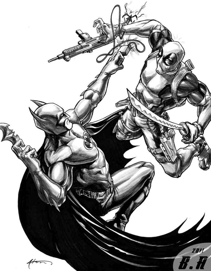 Drawn batman marvel Vs Marvel deadpool images Batman