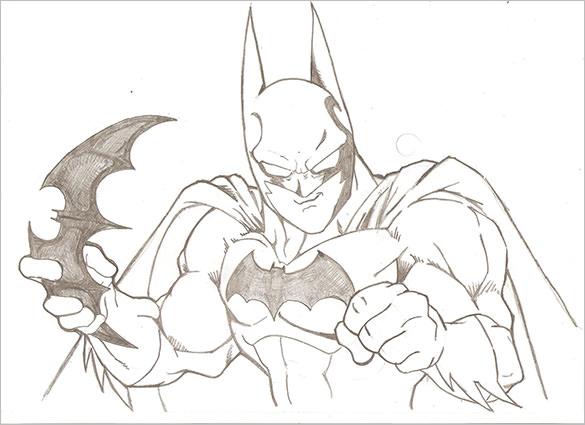 Drawn batman pencil #10