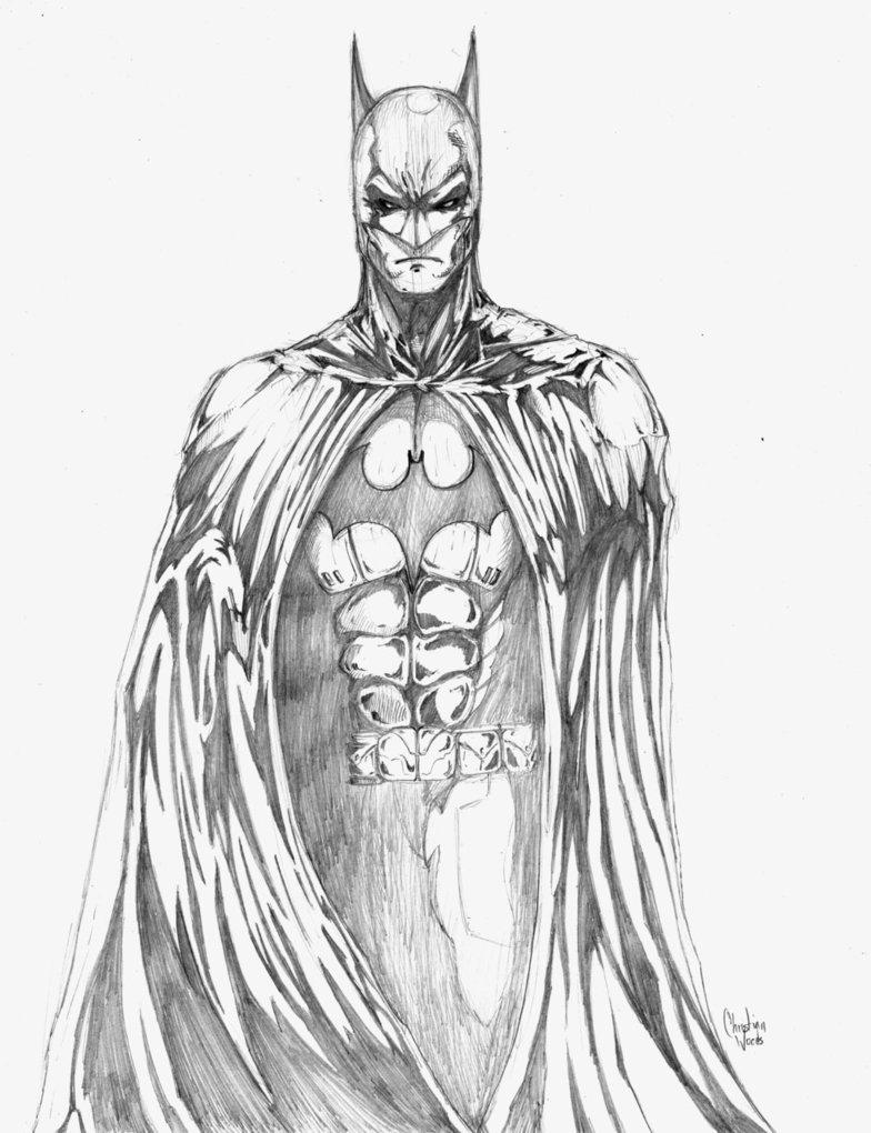 Drawn batman pencil #8