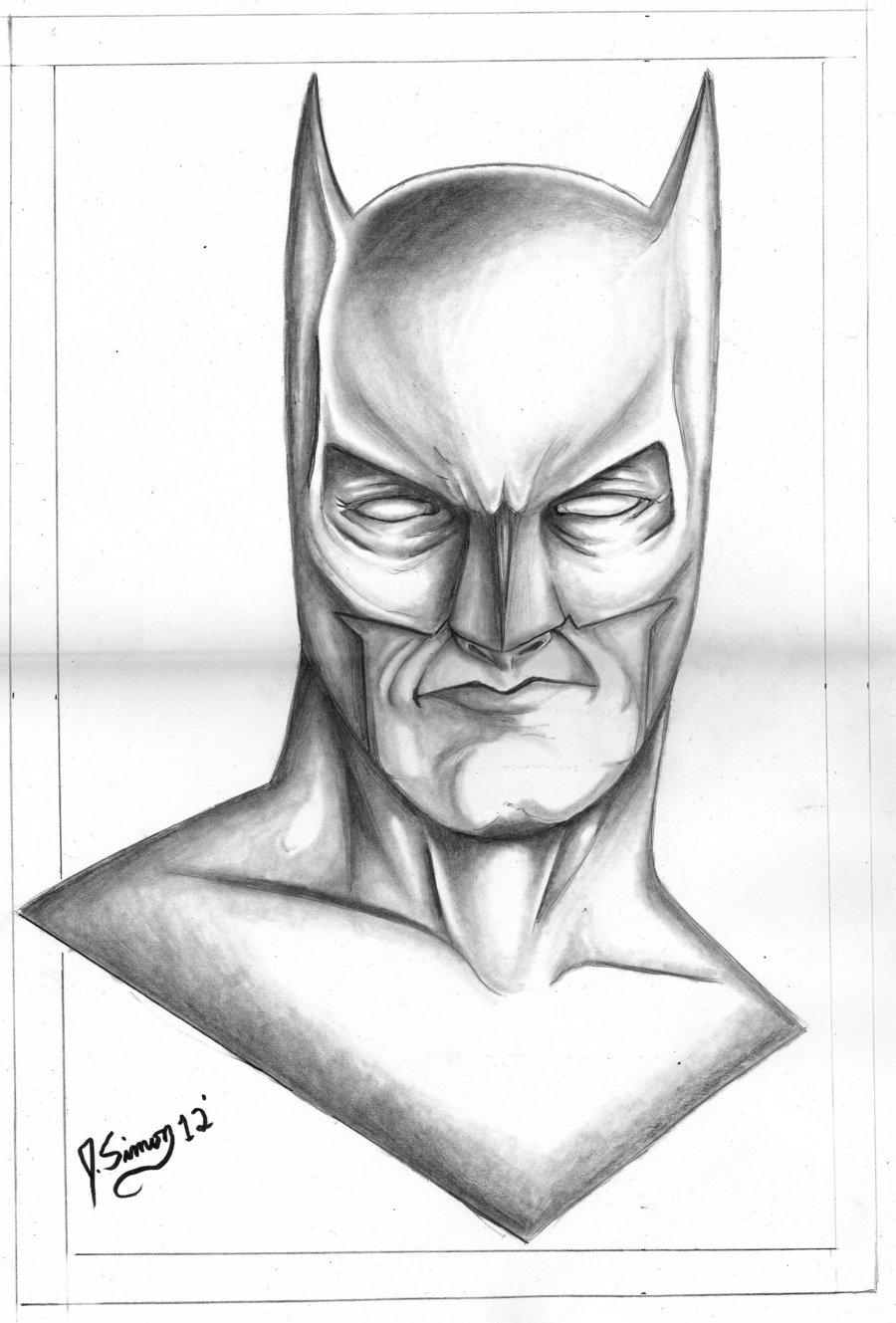 Drawn batman pencil #7