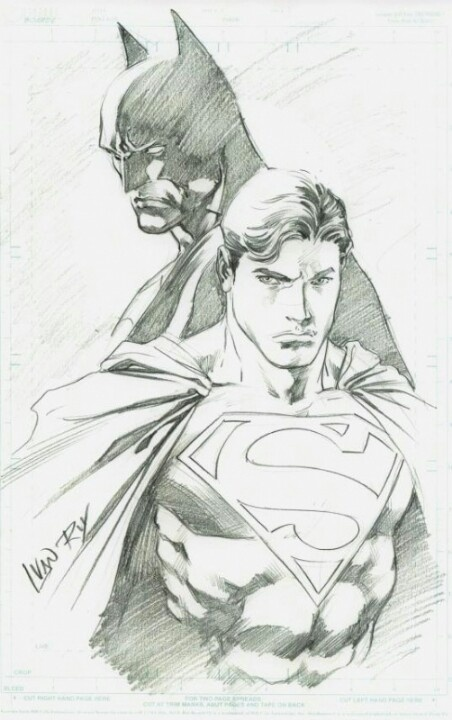 Drawn superman comic art DC Superman Marvel Best DrawingBatman