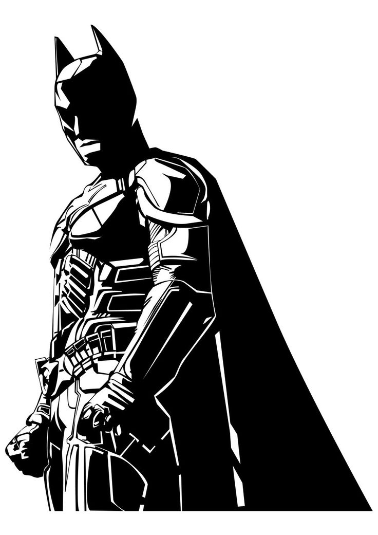 Batman clipart black and white D4k2rq5 clipart transparent and white