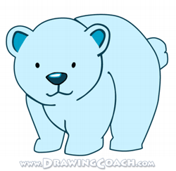 Drawn polar  bear native Drawing Draw to Cartoon polar