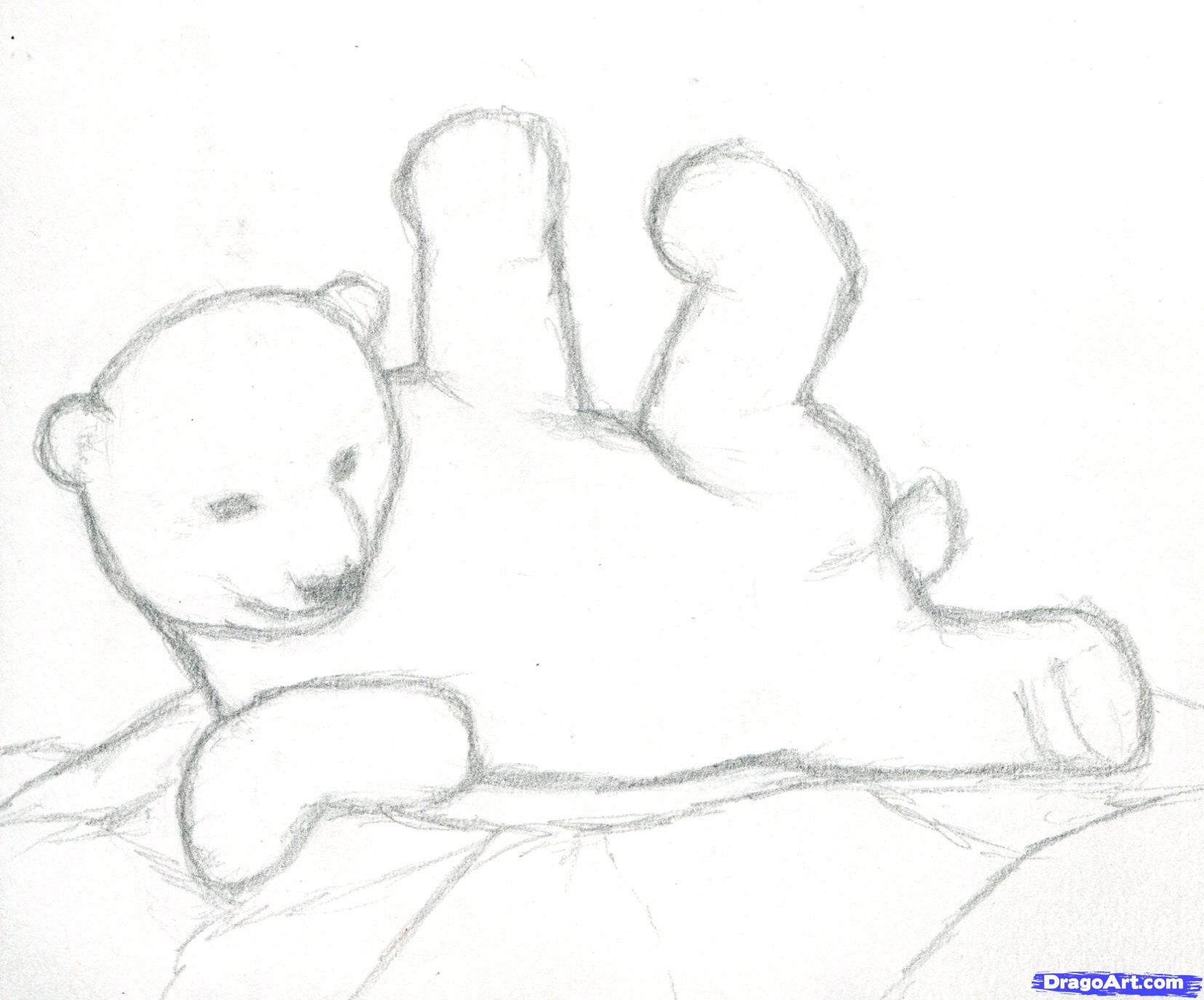 Drawn polar  bear pencil drawing Polar drawing Bear cubs photo#13