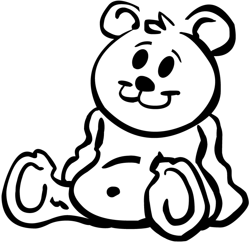 Teddy clipart black and white Black art on download free