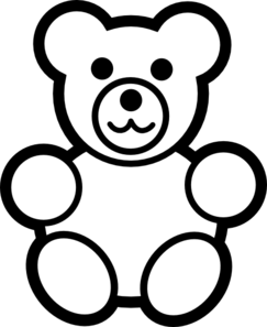 Teddy clipart black and white Art Black And White com