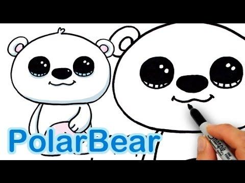 Drawn rabbid youtube easy cartoon A Polar to Draw Easy