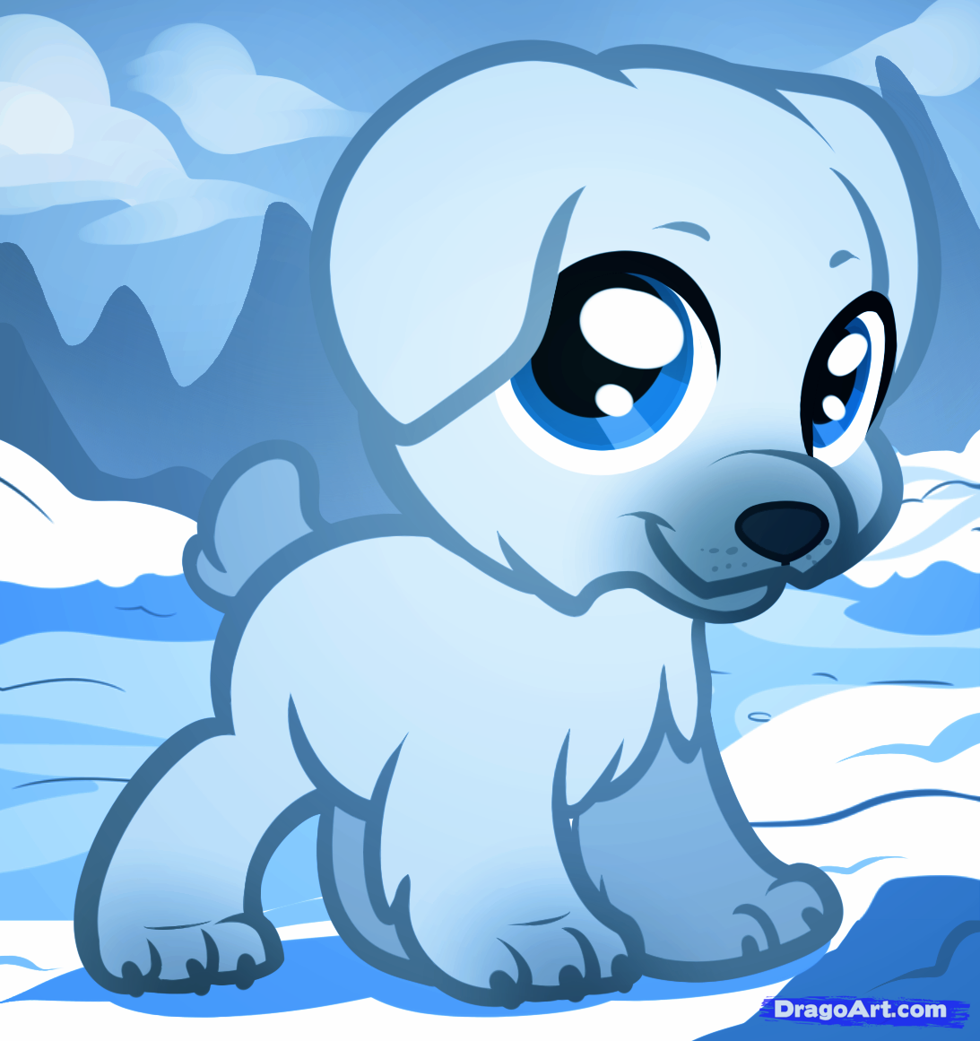 Drawn polar  bear chibi To by Step draw Chibi