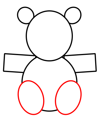 Drawn shapes hipster To bear teddy to bear