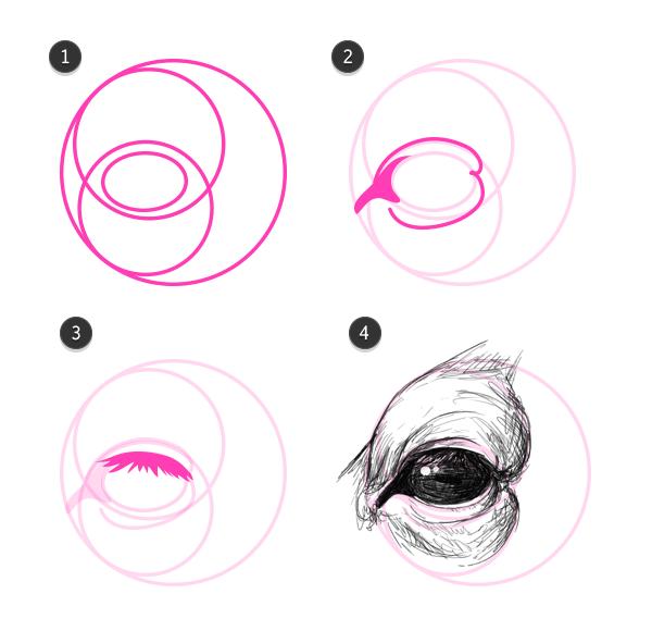 Drawn watermelon eye #15