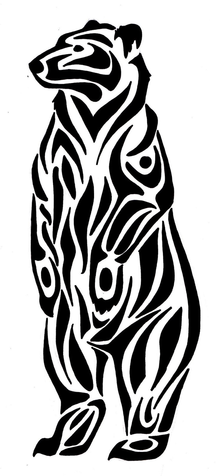 Drawn polar  bear native Bear Tribal ideas Google of