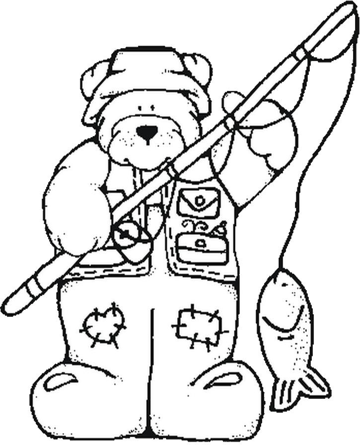Hunting clipart coloring page #14
