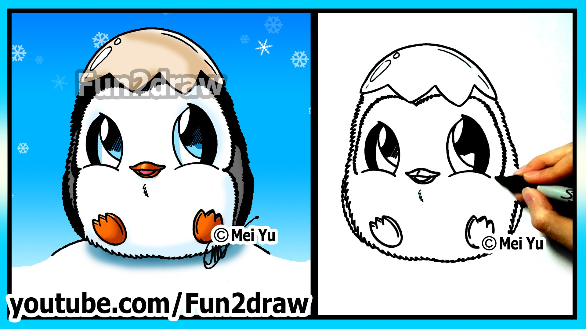 Drawn polar  bear fun2draw Penguin Baby CUTE for Penguin