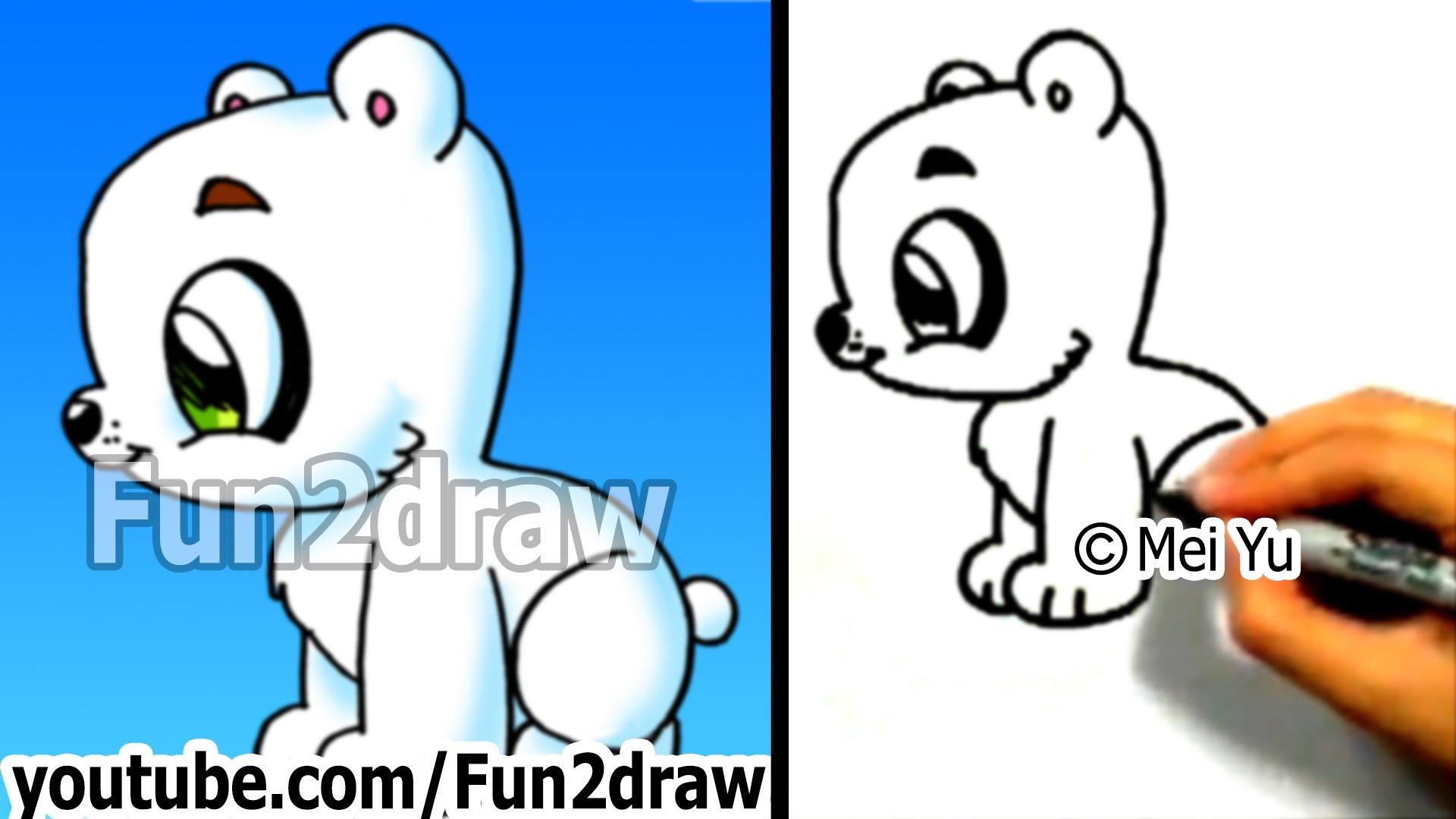 Drawn polar  bear adorable baby How Fun2draw Polar things Polar