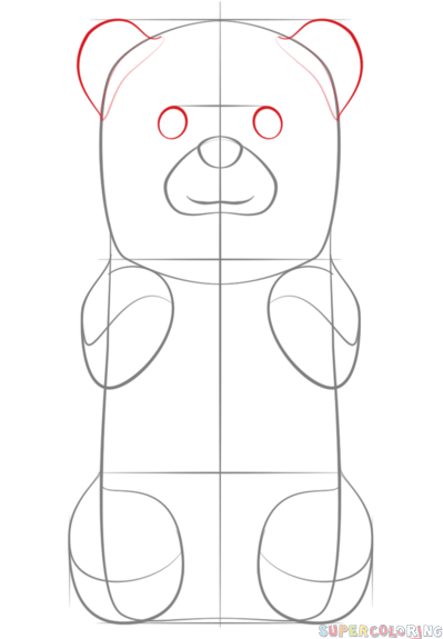 Gummy Bear clipart teddy bear outline 5 by Step bear Drawing