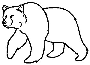 Brown Bear clipart drawn Bear Unit Brown outline Bear