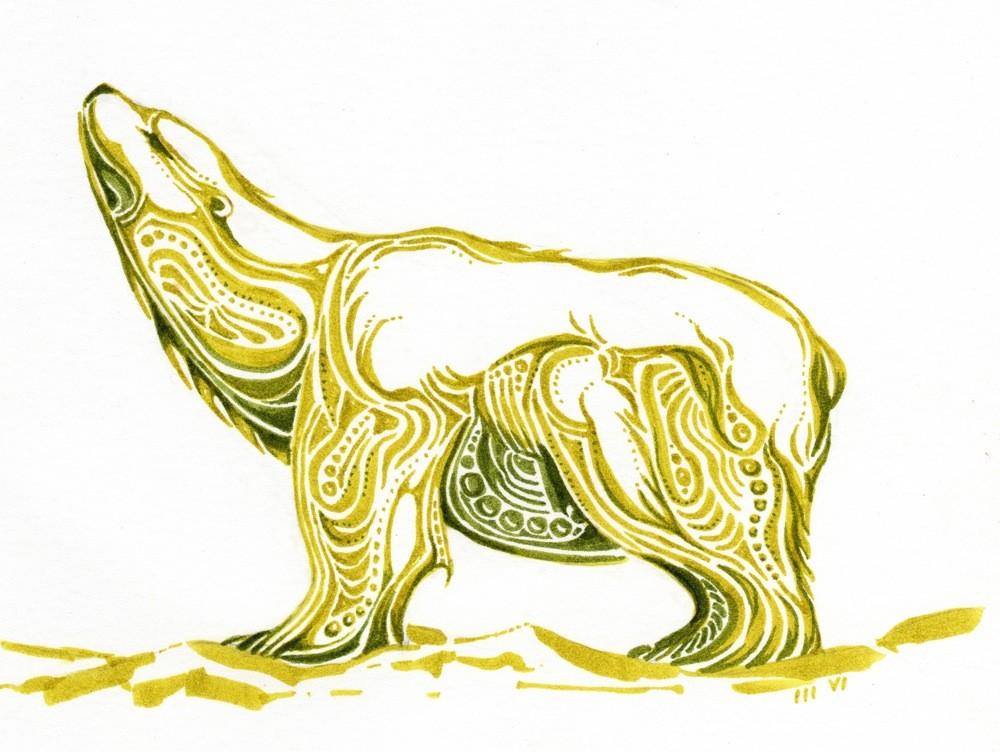 Drawn polar  bear native Polar 00 $25 and Polar